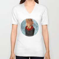 marauders V-neck T-shirts featuring The Marauders - Remus Lupin by ipiouart