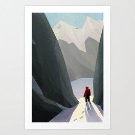 Hiking Art Print