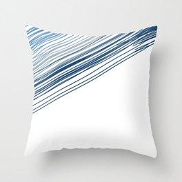 Blue & Grey stripe Throw Pillow