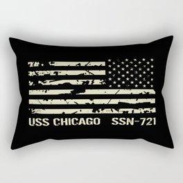 USS Chicago Rectangular Pillow