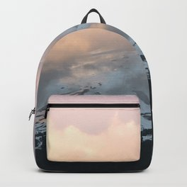 Pink Fog Mountain Morning Backpack