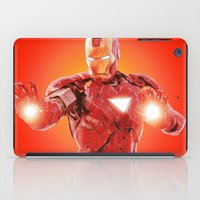 robert downey jr iPad Cases featuring Iron Man * by Hands in the Sky