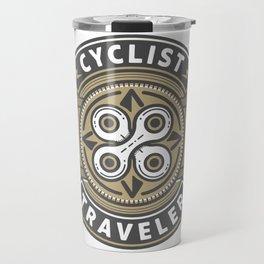 Cyclist Traveler Travel Mug