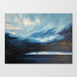 Rain at Sea Canvas Print