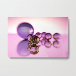"""""""Macro Marbles"""" Metal Print"""