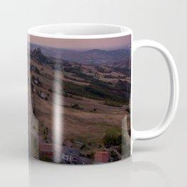emilia romana campagnolo italy farming drone aerial view shot road Coffee Mug