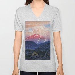 Japan Alps 12, Tsurugi Mountain Morning - Digital Remastered Edition Unisex V-Neck