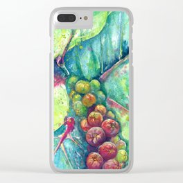 Summer Seagrapes Clear iPhone Case