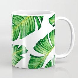 Banana Leaves pattern in watercolor Coffee Mug
