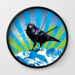 Raven on the Rise by Crow Creek Coolture Wall Clock