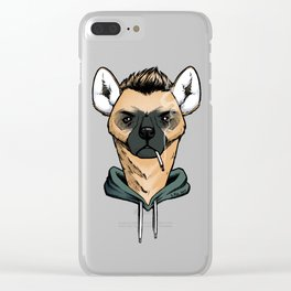 Smoking Hyena Clear iPhone Case
