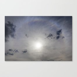 sun halo Canvas Print