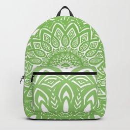 Light Lime Green Mandala Simple Minimal Minimalistic Backpack