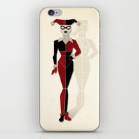 harley quinn iPhone & iPod Skins featuring Harley Quinn by Lily's Factory