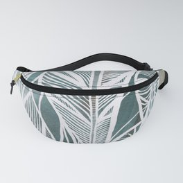 Feathery Design in Emerald Green Fanny Pack