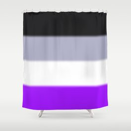 Asexual Pride Flag Shower Curtain