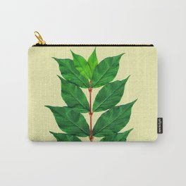 Tree Branch Minimal Leaves Carry-All Pouch