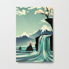 Waterfall blossom dream Metal Print
