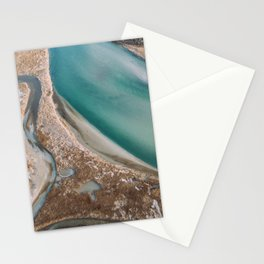 Winter Morning at Charlestown Breachway Stationery Cards