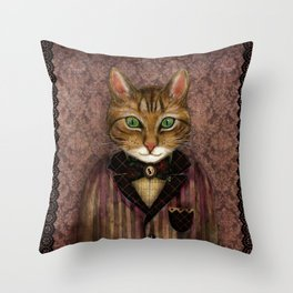 Sir Harold And His Mouse Betty Throw Pillow