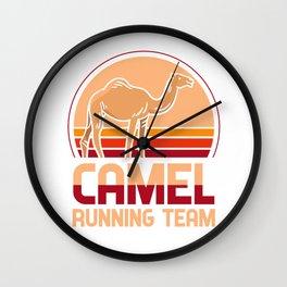 Camel running team - Kamäle, jogging Wall Clock