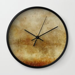 Antique Vintage Grunge Old Paper Distressed Paper Wall Clock