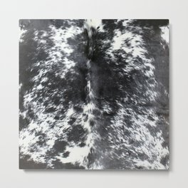 Cowhide black and white | Textures Metal Print