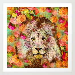 LION AND THE ROSE Art Print