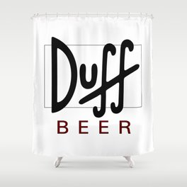 Duff Beer Logo Black Shower Curtain