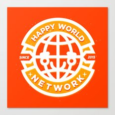 HAPPY WORLD NEWS NETWORK Canvas Print