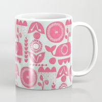 folk Mugs featuring folk whale by ottomanbrim