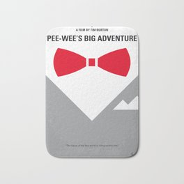 No511 My Pee Wees Big Adventure minimal movie poster Bath Mat