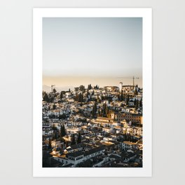 Granada City Sunset Shadows | Spanish Travel Fine Art Photography prints | saige ash studio  Art Print