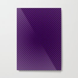 Purple Geometric Pattern Metal Print
