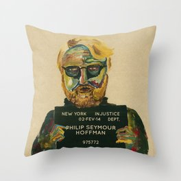 Philip Seymour Hoffman Throw Pillow