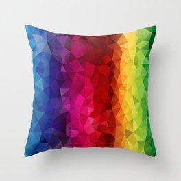 Rainbow Polygons Throw Pillow