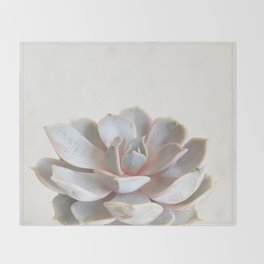 Pink Succulent Throw Blanket