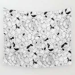 Daffodils spring floral pattern Wall Tapestry