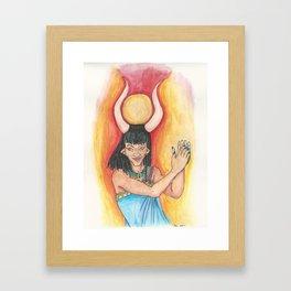 Hathor has rhythm Framed Art Print