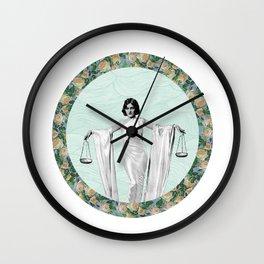 Libra - A Zodiac Sign Series Wall Clock