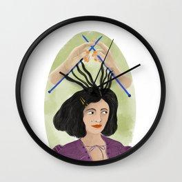 Knitting season Wall Clock