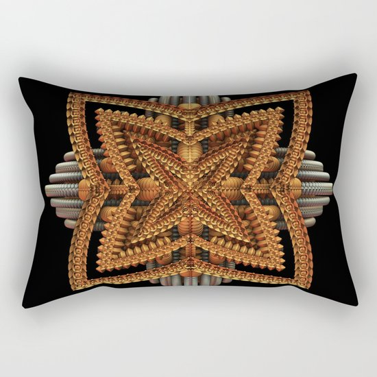 Art Deco Brooch Rectangular Pillow