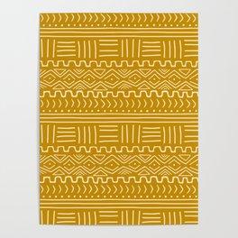 Mud Cloth on Mustard Poster
