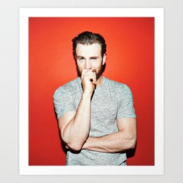 Chris Evans Art Print