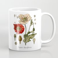 poppy Mugs featuring Poppy by jbjart