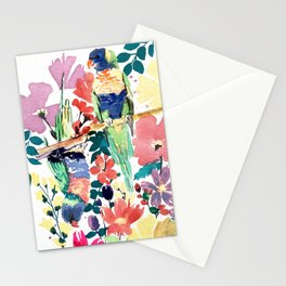 Blooming Lorikeets Stationery Cards