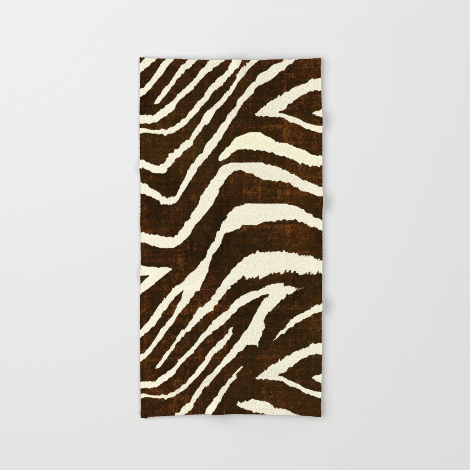 Animal Print Zebra In Winter Brown And