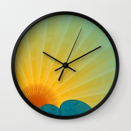 Vintage Ocean Sunset Wall Clock