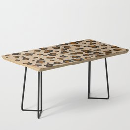 Pixelated Leopard Coffee Table