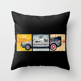 DeLorean DMC-12 - Cinema Classics Throw Pillow